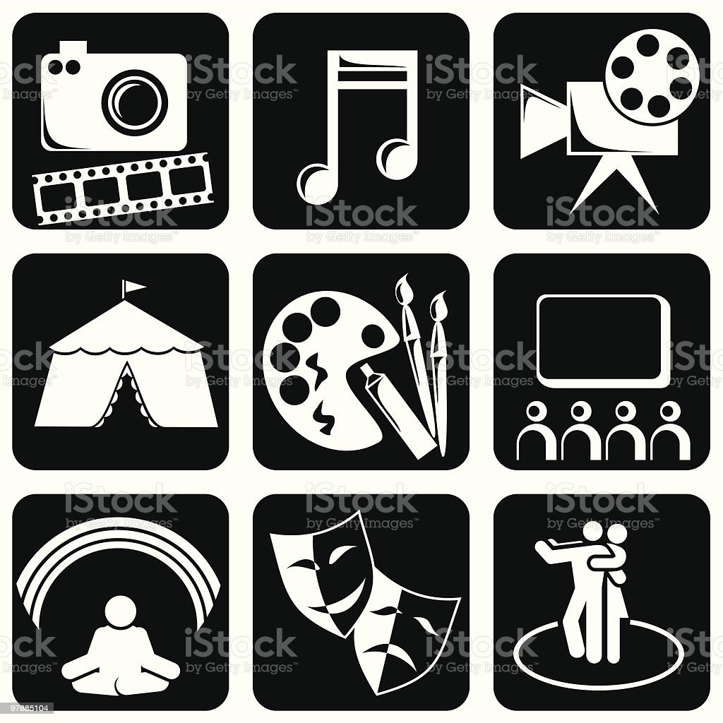 icons of Art royalty-free stock vector art