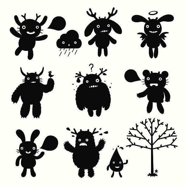怪獣 - 漫画のモンスター点のイラスト素材/クリップアート素材/マンガ素材/アイコン素材