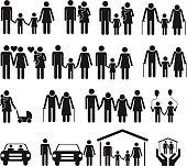 Family icons set