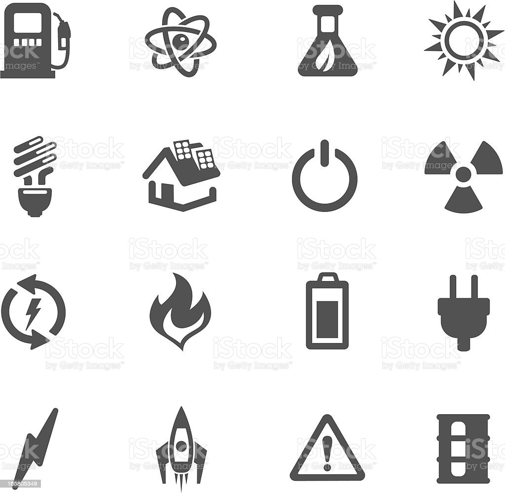 icons of energy symbol made in black and white backboard stock vector art  u0026 more images of