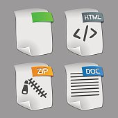Icons of files Collection