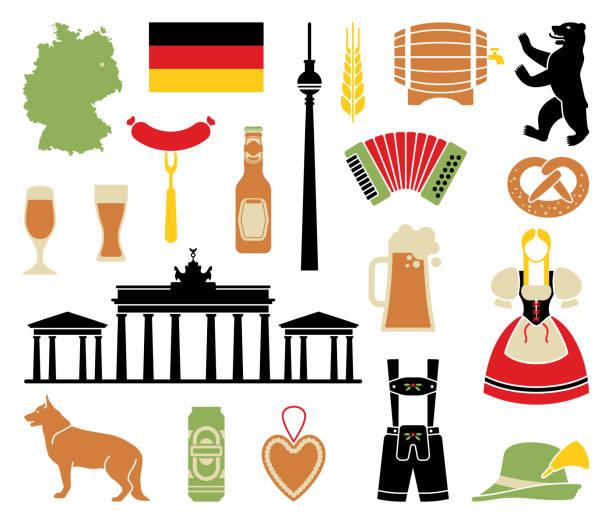 독일의 아이콘 - 독일 stock illustrations