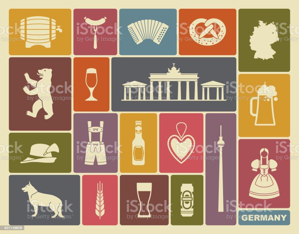 Icons von Deutschland – Vektorgrafik