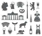 Icons Of Germany. Vector illustration