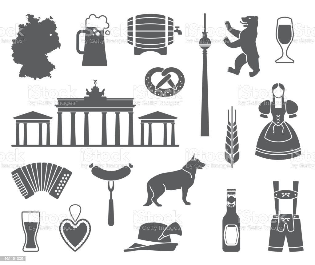 Icons von Deutschland. Vektor-illustration – Vektorgrafik