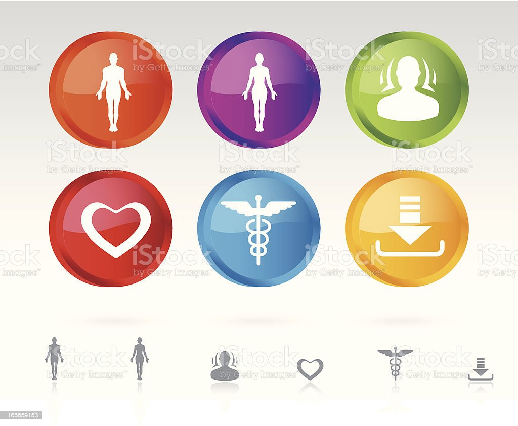 Icons of Health vector art illustration