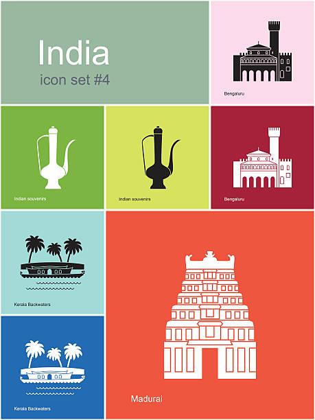 symbole von indien - madurai stock-grafiken, -clipart, -cartoons und -symbole