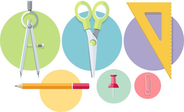 symbol des office-tools - filzarbeiten stock-grafiken, -clipart, -cartoons und -symbole