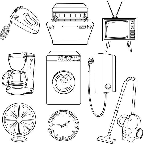 home elektrische geräte - küchenmixer stock-grafiken, -clipart, -cartoons und -symbole