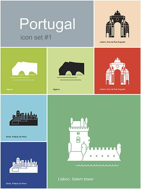 ilustrações de stock, clip art, desenhos animados e ícones de ícones de portugal - algarve