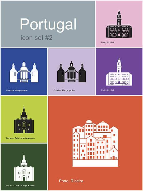 ilustrações de stock, clip art, desenhos animados e ícones de ícones de portugal - douro