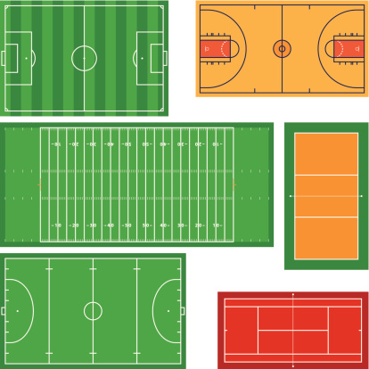 Icons of rectangular sports fields
