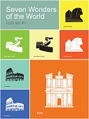 Icons of Seven Wonders of the World