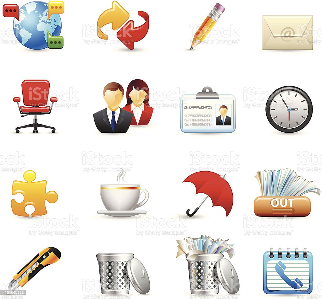 Icons - Office royalty-free stock vector art