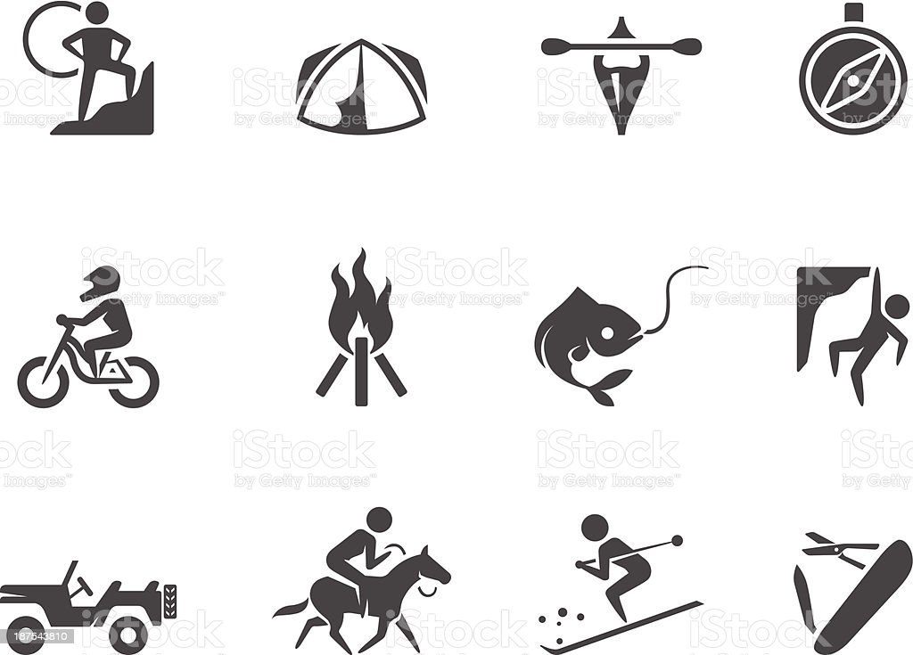 BW Icons - Outdoor vector art illustration