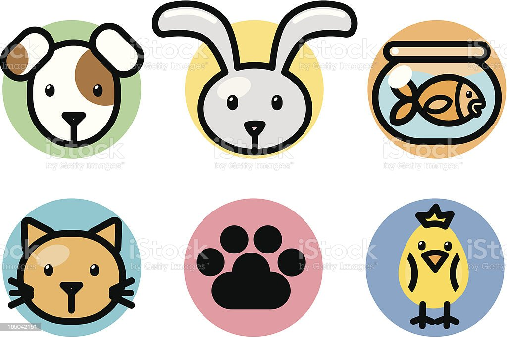 icons : pets royalty-free stock vector art