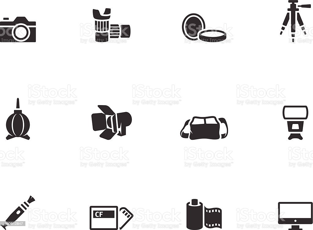 BW Icons - Photography royalty-free bw icons photography stock vector art & more images of bag