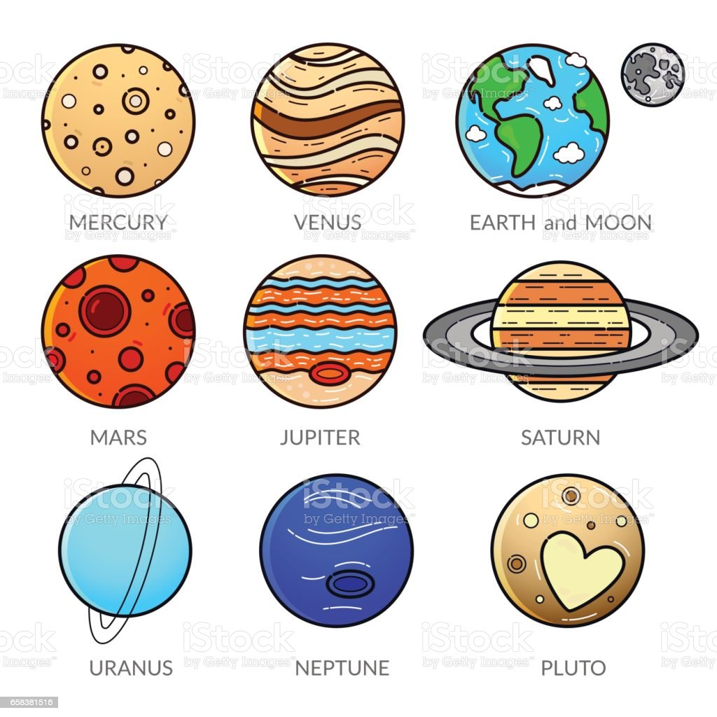 royalty free pluto dwarf planet clip art vector images
