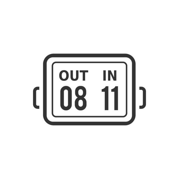 bildbanksillustrationer, clip art samt tecknat material och ikoner med bw ikoner - spelare substitution board - changing bulb led