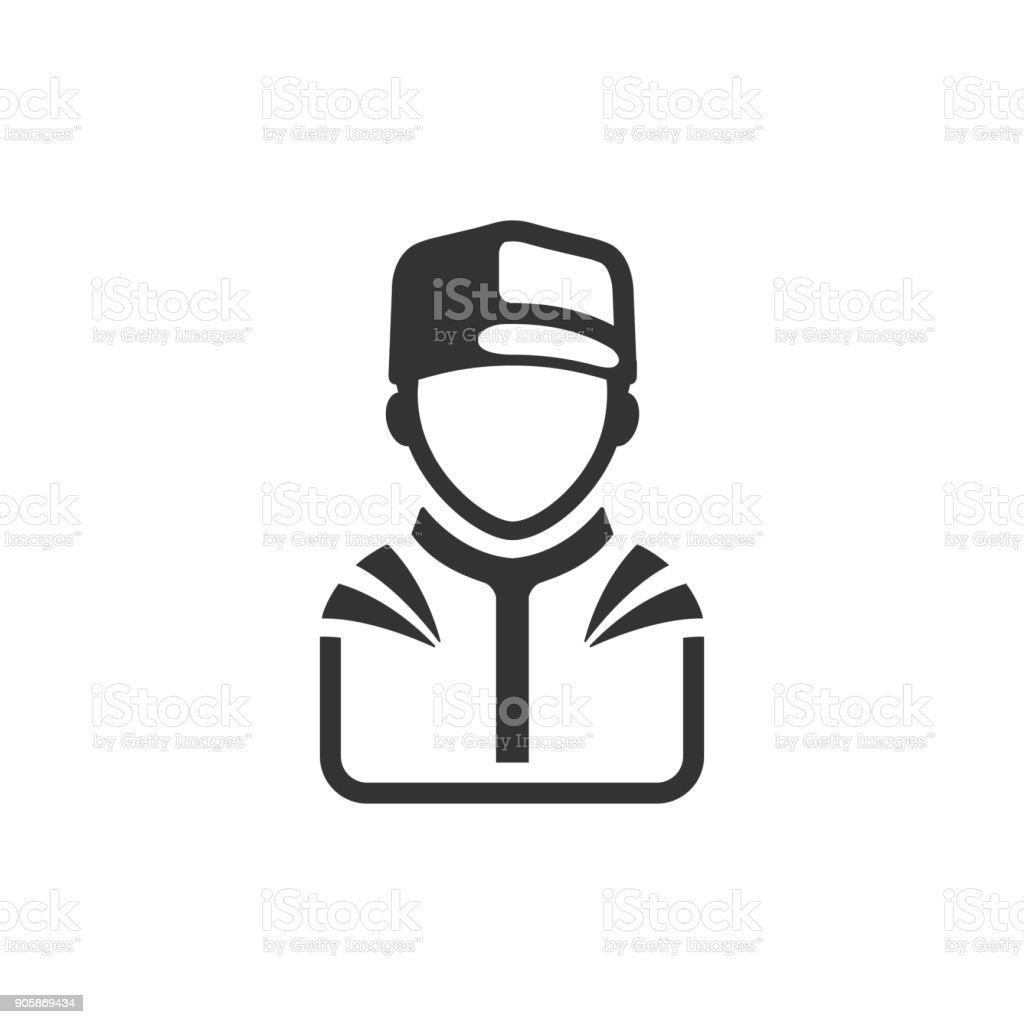 BW Icons - Racer avatar vector art illustration