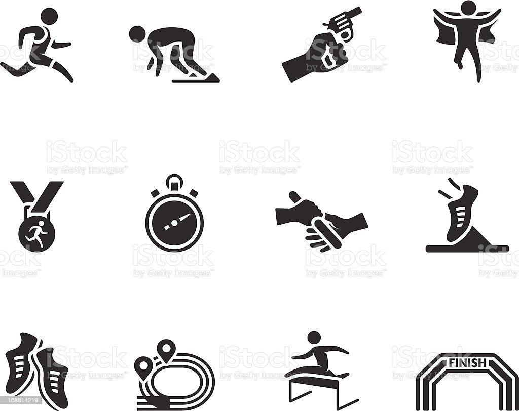 BW iconos-tiempo de la competencia - ilustración de arte vectorial