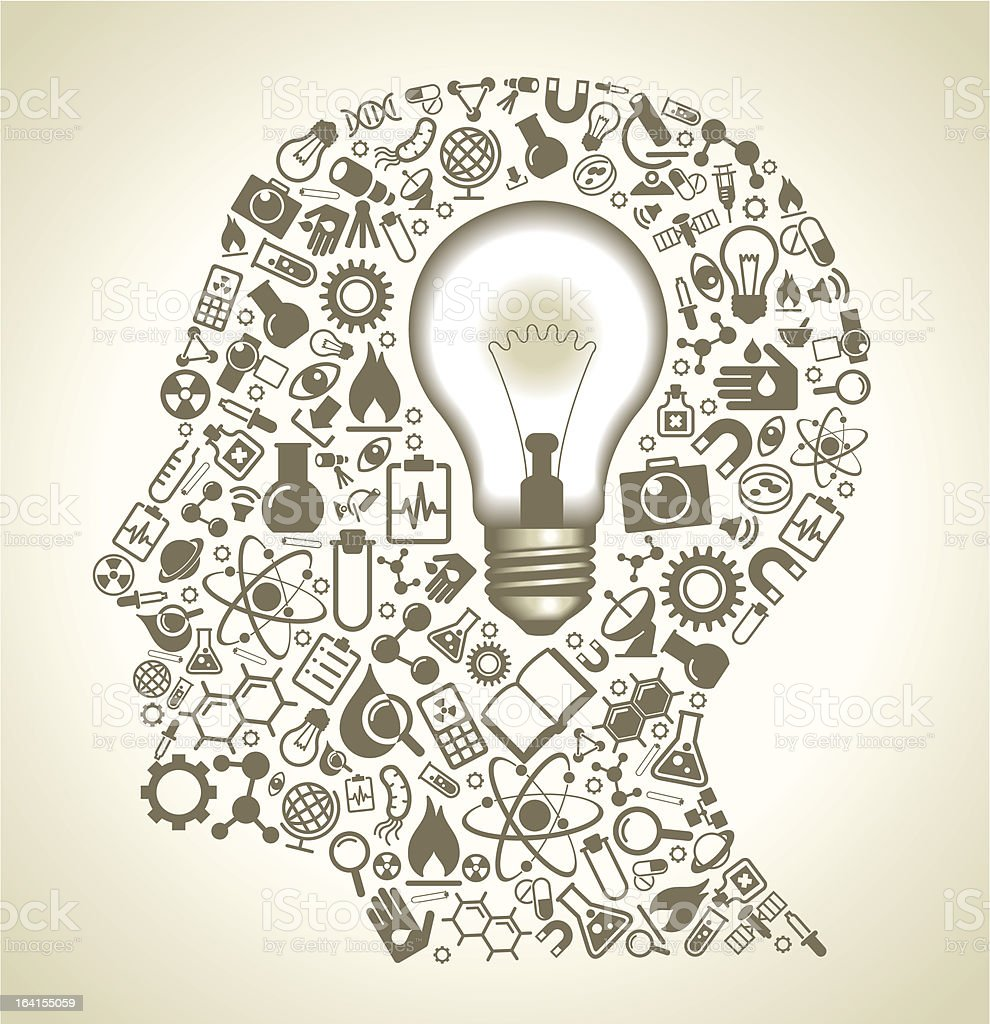 icons science in the form of head and bulb royalty-free icons science in the form of head and bulb stock vector art & more images of abstract