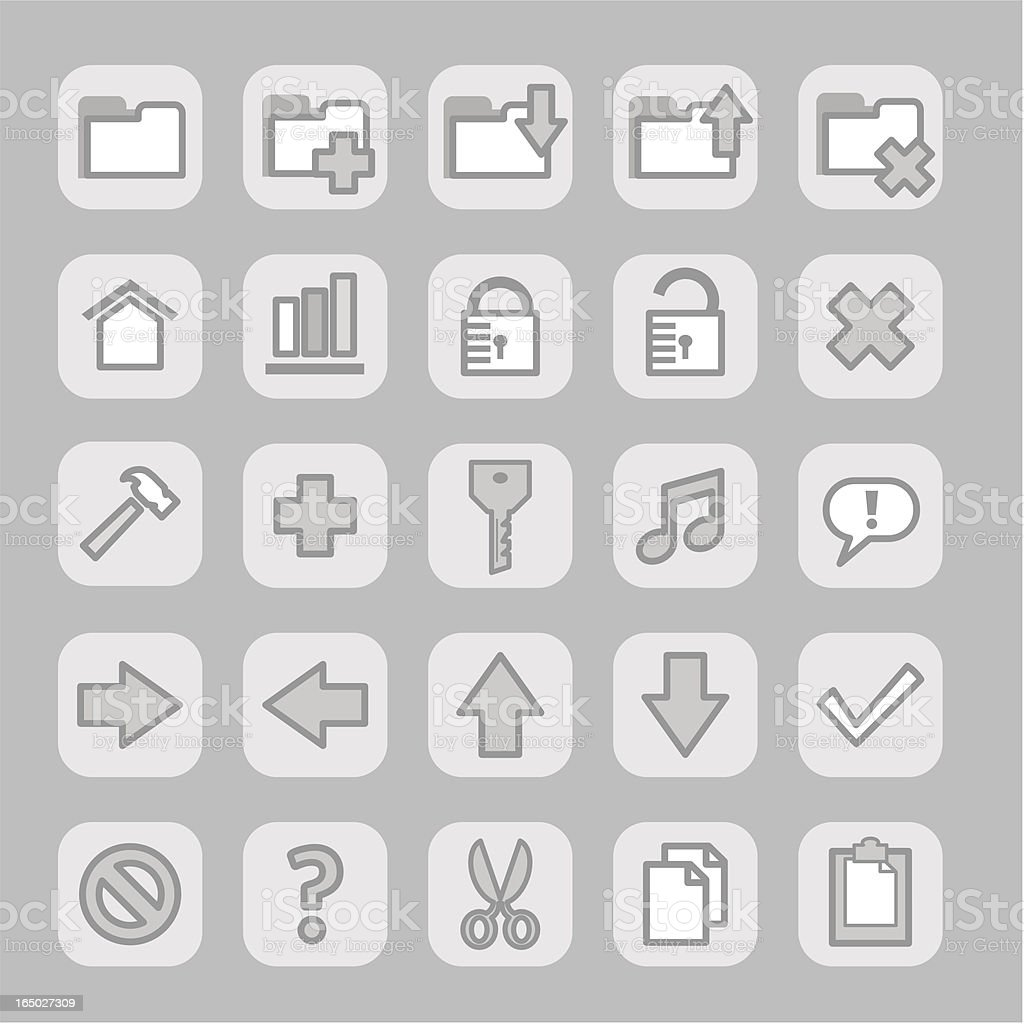 Icons (grey)  - set 1 royalty-free icons set 1 stock vector art & more images of arranging