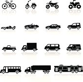 Icons set cars collection
