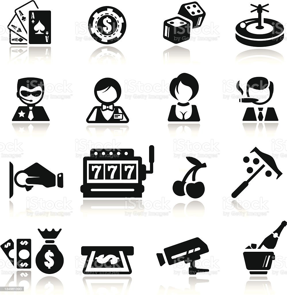 Icons set Casino royalty-free icons set casino stock vector art & more images of atm