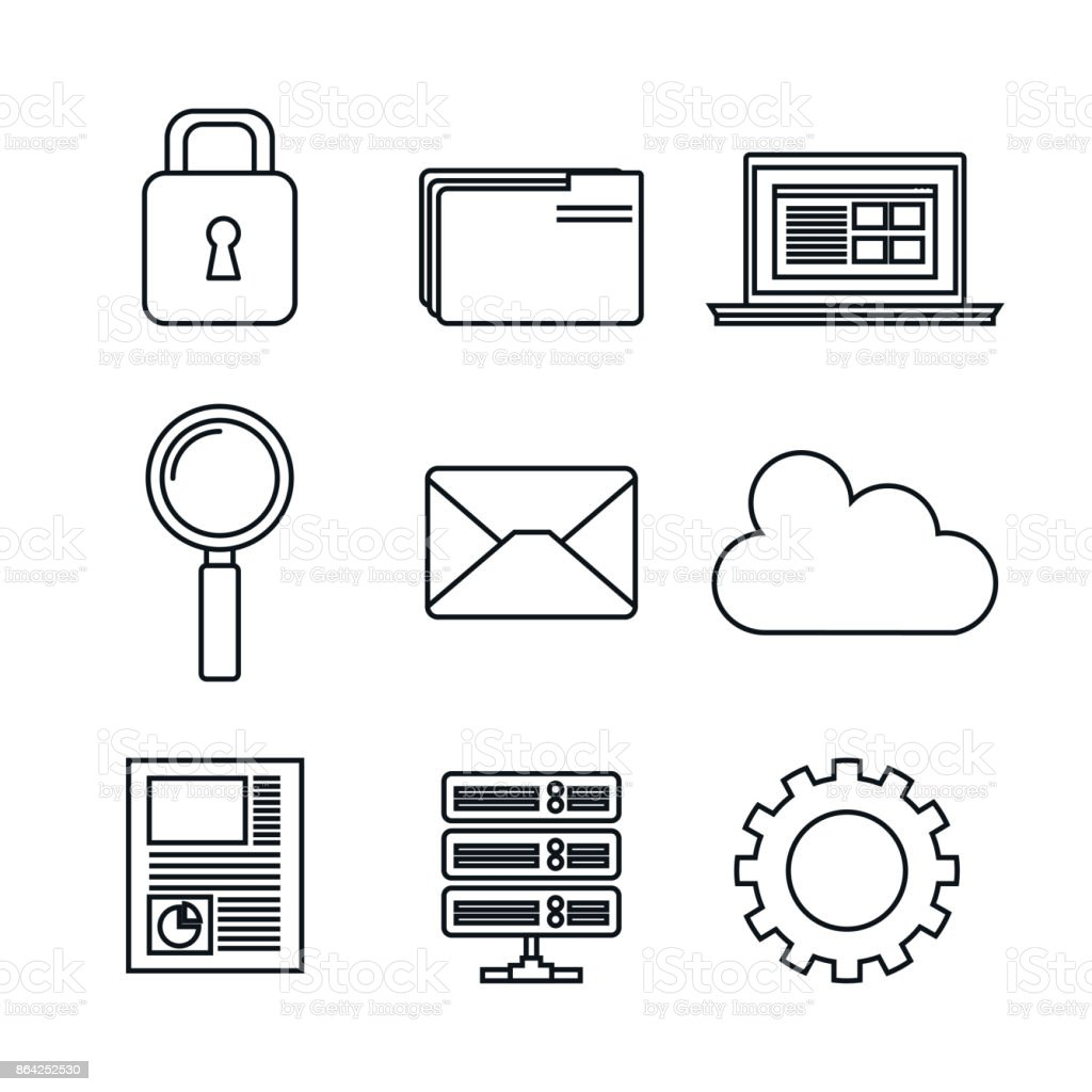 icons set data center server silhouette isolated royalty-free icons set data center server silhouette isolated stock vector art & more images of arts culture and entertainment