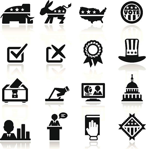 набор выборы значки - presidential debate stock illustrations