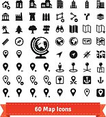 Icons set for use in internet map services