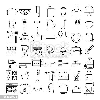 vector, illustration, kitchen collection