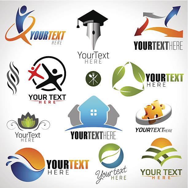 icons set of modern vector elements vector art illustration