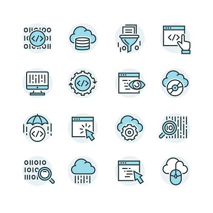 icons set of search engine optimisation