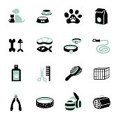 Icons set : Pet, Cat & Dog Object