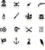 Icons set pirates