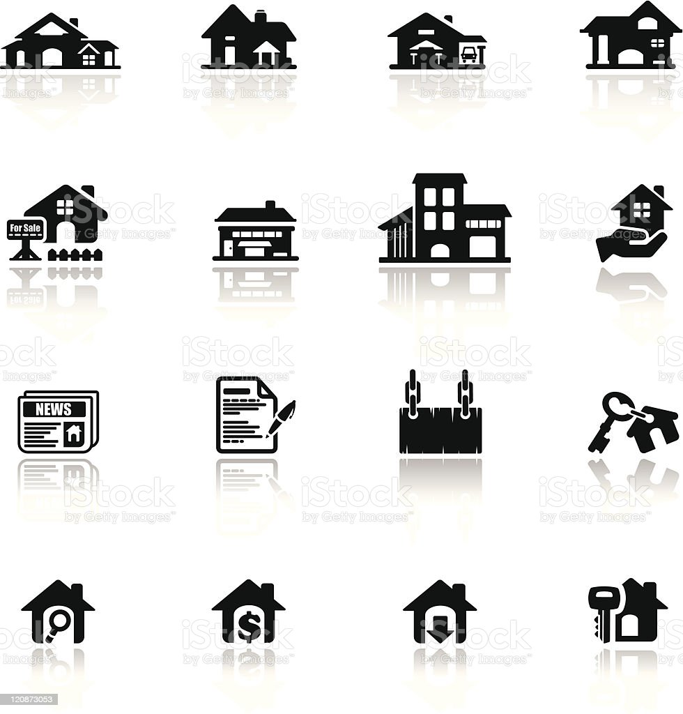 Icons set real estate vector art illustration
