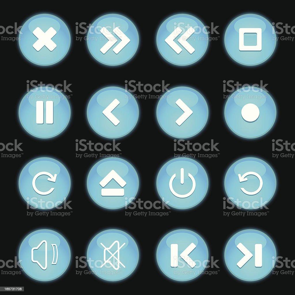 Icons Set royalty-free stock vector art