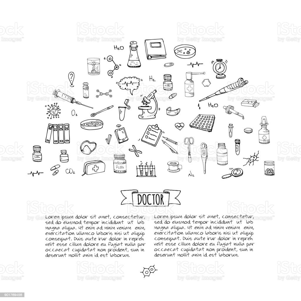 Icons set vector art illustration