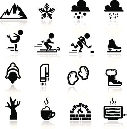 Icons set winter