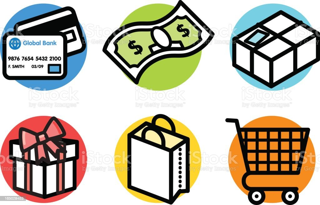 icons: shopping royalty-free stock vector art