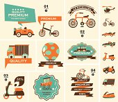 Icons showing different types of transportation