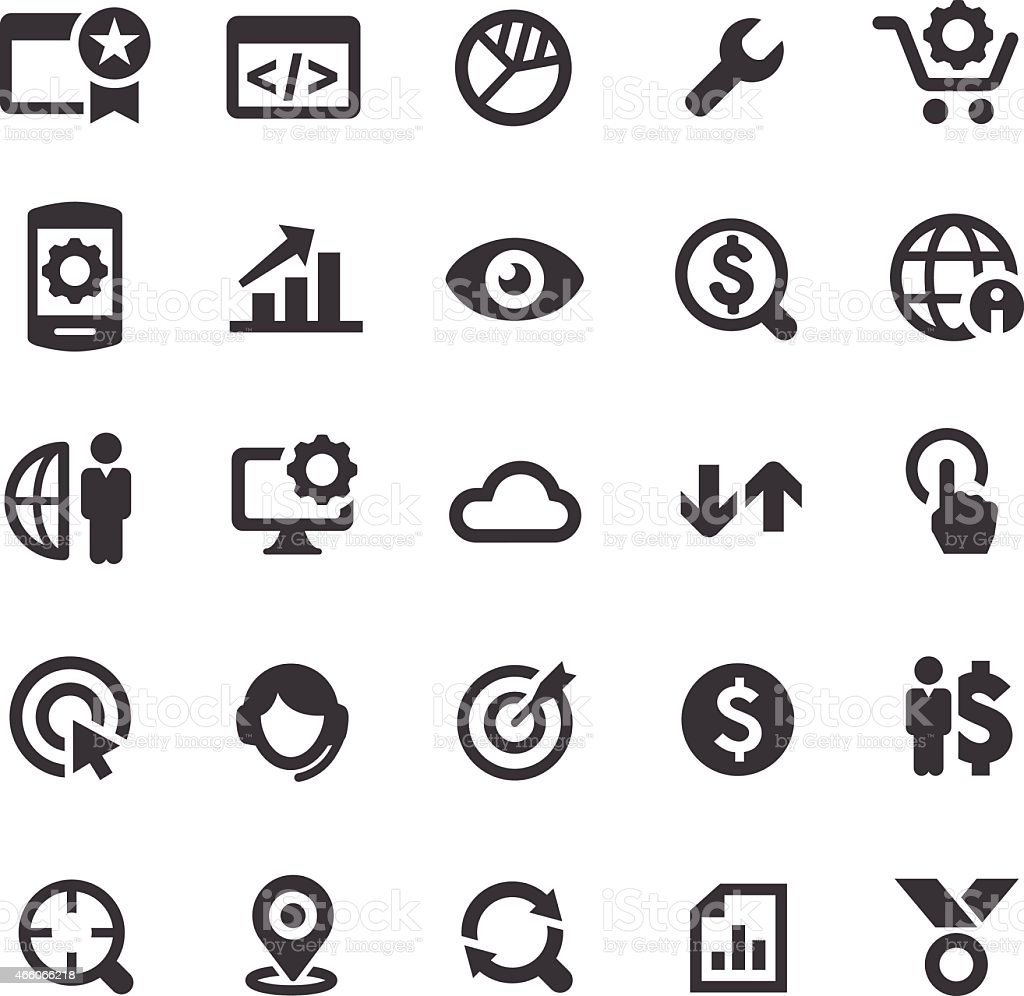 SEO Icons - Smart Series vector art illustration