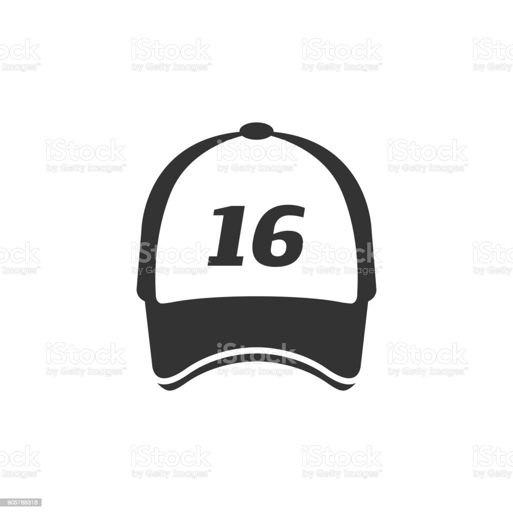 BW Icons - Sport hat vector art illustration