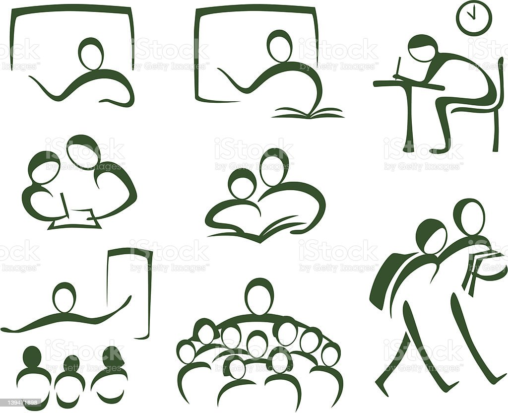Icons Teachers and Students royalty-free icons teachers and students stock vector art & more images of adult