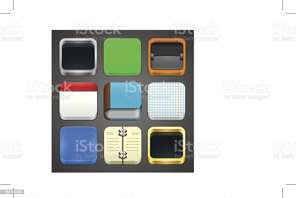 Icons Templates royalty-free stock vector art