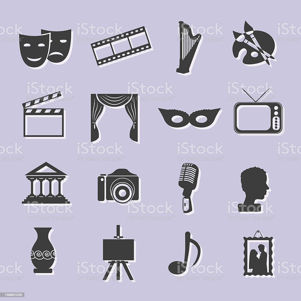 Icons that have to do with the media royalty-free icons that have to do with the media stock vector art & more images of art