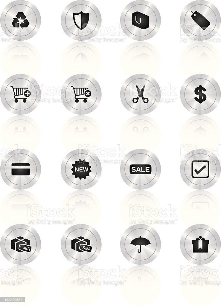 Icons Titanium Series - Shopping royalty-free stock vector art