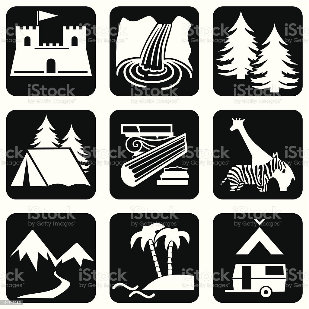 icons travel royalty-free stock vector art